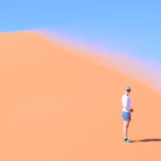 Windy Climb up Dune 45