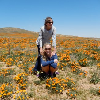 My Grandmother and I in the Poppy Field