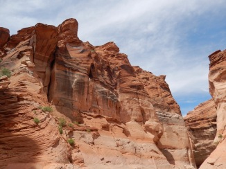 Sandstone walls of Lake Powell