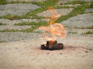 Eternal Flame at President John F. Kenney Gravesite