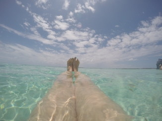 Clear water at Gibbs Cay