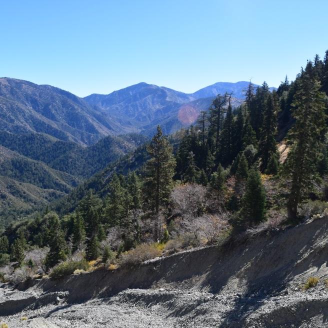 View of San Gabriel Mountains
