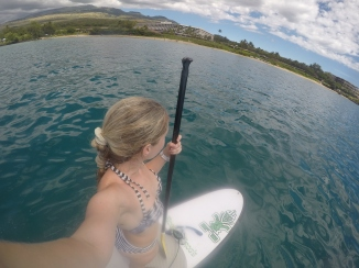 Paddleboarding at Ahihi-Kinau Reserve
