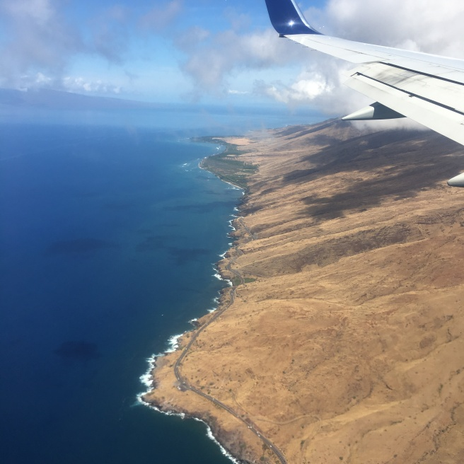 Flying into Maui